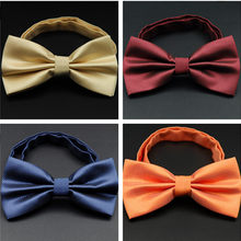 CityRaider Gold Red Blue Self Bow Ties for Men Silk Pre-Tied Tux Bow Tie Burgundy Wedding Tuxedo Tie Wholesale VIP Link C033(China)