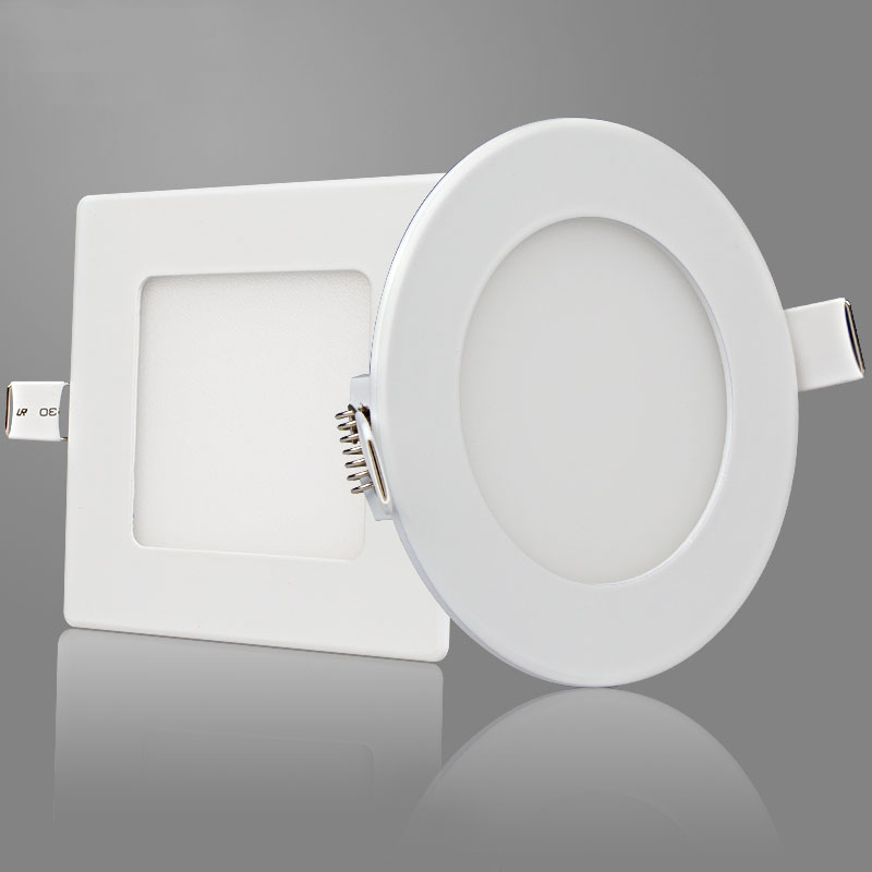 free shipping round and square LED panel light 3W 4W 6W 9W 12W 15W 18W 24W ceiling recessed spot lamp,board led lamp ювелирное изделие 127826