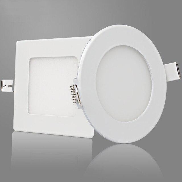 Free Shipping Round And Square LED Panel Light 3W 4W 6W 9W 12W 15W 18W 24W