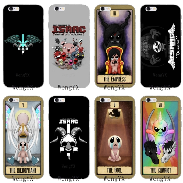 US $1 89 5% OFF|game The Binding of Isaac Slim silicone Soft phone case For  iPhone 4 4s 5 5s 5c SE 6 6s plus 7 7plus 8 8plus X-in Half-wrapped Case