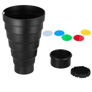 Image 5 - Snoot Kit de filtros de Color para Elinchrom /Impact EX/Calumet Genesis/ Interfit EX Flash estroboscópico, con rejilla de nido de abeja, 5 uds.