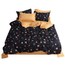 Four Piece Quilt Cover, Pillowcase Planet Full Size moon mattresses queen King size bed sheet  Sweet dream  modern concepts