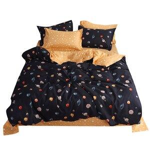 Image 1 - Vier Stück Quilt Abdeckung, kissenbezug Planeten Volle Größe mond matratzen königin König größe bett blatt Süße traum moderne konzepte