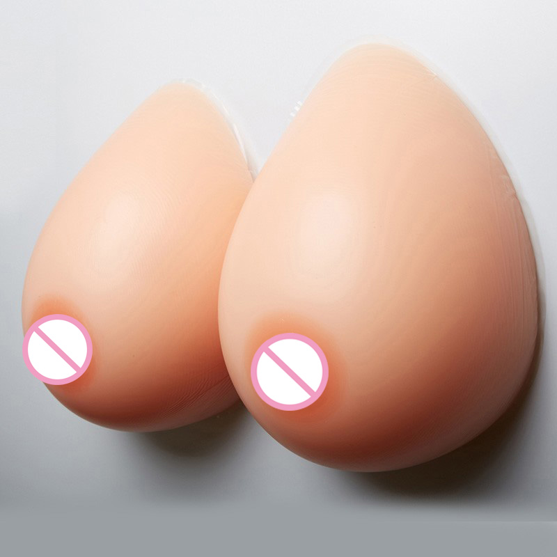 Buy D cup 1000 g/pair Breast prosthesis Artificial Silicone Fake Breast Forms Crossdressers drag queen transgender  Bra