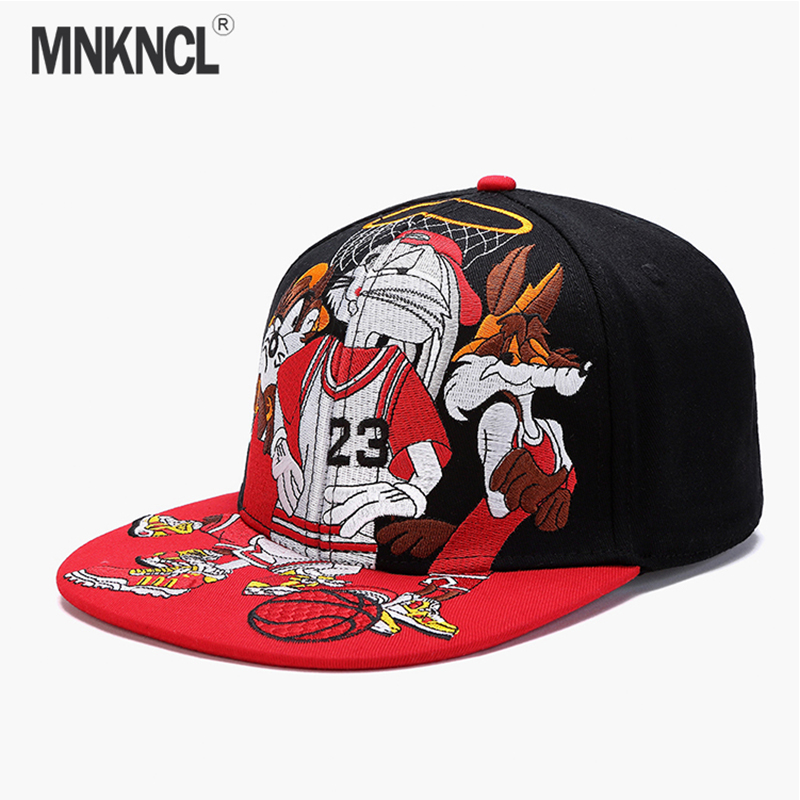 New Punk Flat Along Hip Hop Caps For Children Boy Girl Jordan Basketball Skull Pentagram Rivet Eagle Buttons Hats Cap Boy's Hats
