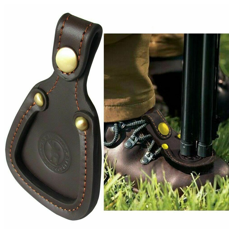 Toe Rest Sturdy Durable Leather Shoe Protector Pad For Outdoor Hunting Shooting Rifle Barrel
