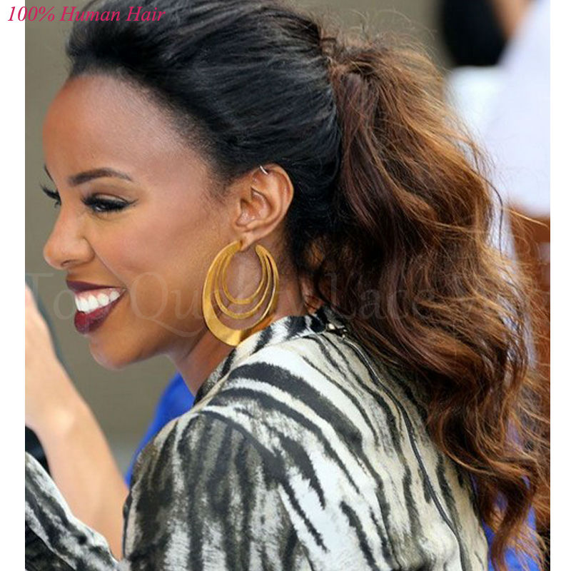 Kelly Rowland Hair Style 8A Remy Two Tone Lace Wig Ombre Lace Front Wigs  Glueless Full Lace Wavy Wigs For Black Women Baby Hair c9281bc818ad