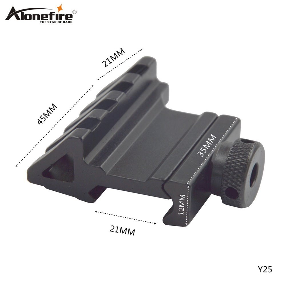 AloneFire Y25 Tactical 45 Degree 21mm Rail Mount Universal Picatinny Rail Weaver Quick Release Off set hunting mount