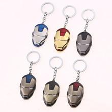 Marvel Avengers Endgame Iron Man Mask Keychain Mjollnir Metal Thors Hammer Keyring Action Figure Toys