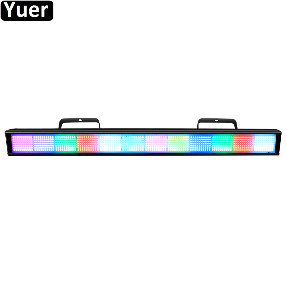 New840Pcs LEDs RGB Pixel Wall Washer Light Running Horse DMX512 Sound Control LED Bar DJ Disco Light Party Club Wash Wall Lights