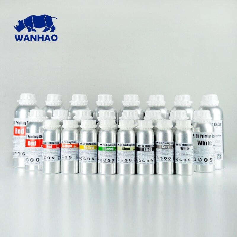 1 L Gris/Gris qualité supérieure 405NM WANHAO LCD DLP SLA 3d imprimante UV de résine, compatible pour D7/D7 Plus/D8