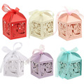 50pcs/Lot Mr & Mrs Wedding Candy Box Sweets Gift Favor Boxes With Ribbon Party Event Decoration Supplies Pearlescent 6 Color New