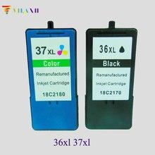 купить vilaxh Black & color Ink Cartridge For Lexmark 36 37 For lexmark X3650 X4650 X5650 X6650 X6675 Z2420 Printer ink дешево