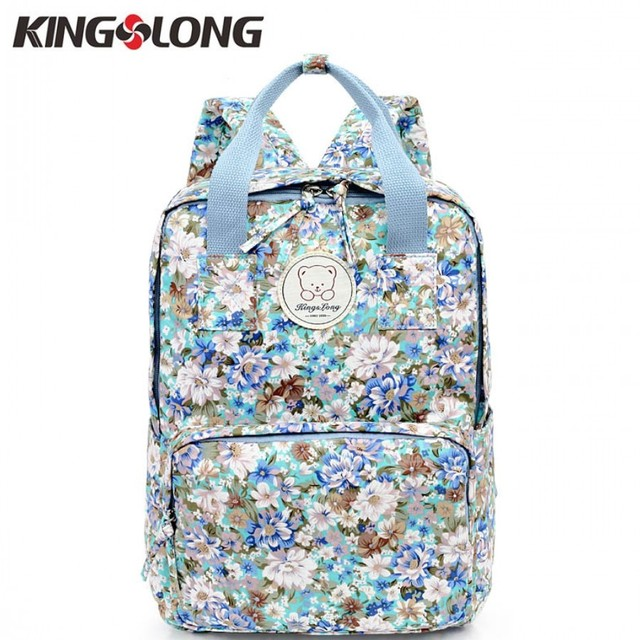 4b083c185795 KINGSLONG Fashion Bag Female Backpack Cotton Floral Women Backpacks for Adolescent  Girls School Bags Notebook Bags KLB1310666-5