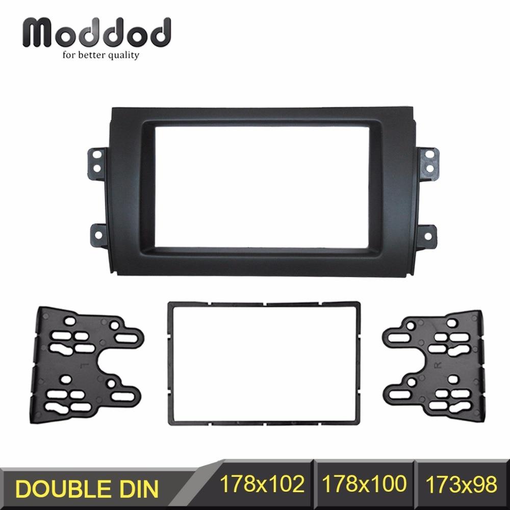 ᗜ LjഃDoble DIN fascia para Suzuki SX4 Radios DVD estéreo panel Dash ...