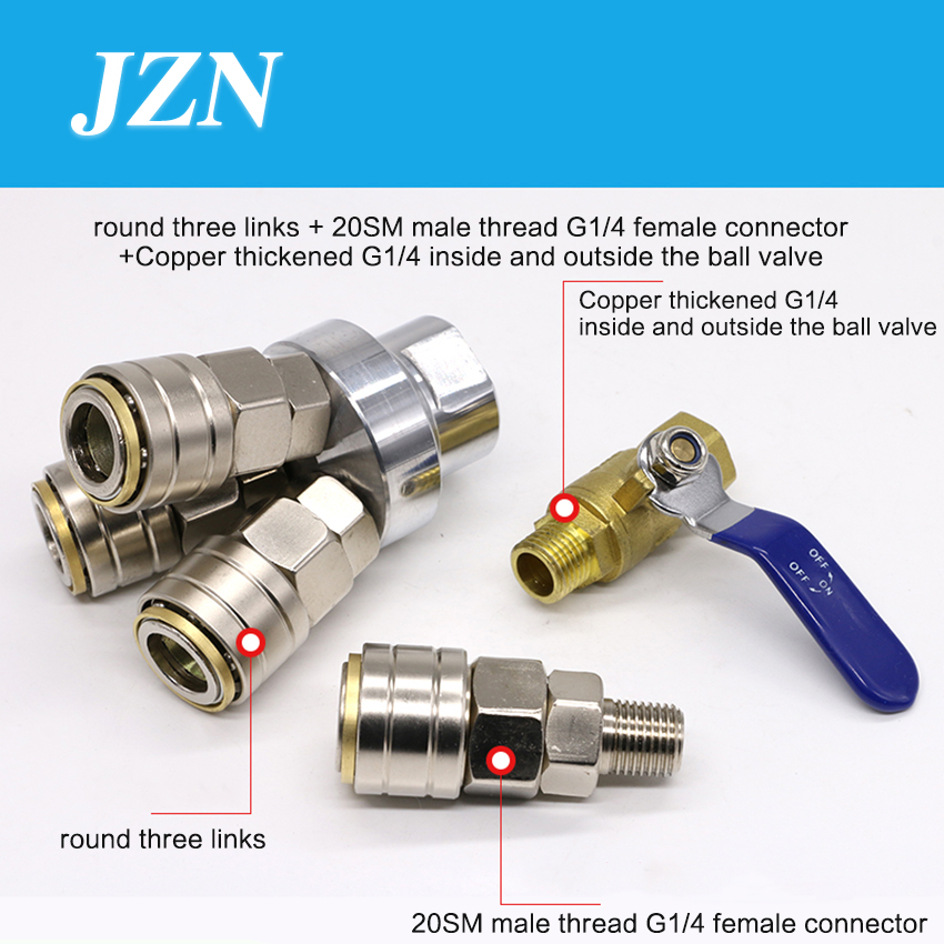 1 PCS C-type pneumatic quick connector self-locking round three ventilation tube plug male and female air pump air compressor стоимость
