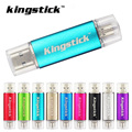 Kingstick Pen Drive Colorido OTG pen drive 4 GB 8 GB Flash usb conduzir 16 GB 32 GB 64 GB memory stick para computador telefone Android U disco