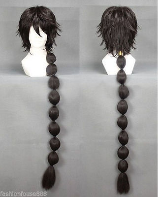 Vocaloid Kagamine New MAGI Judal Judar cosplay Black Long Cosplay Hair Full Wigs