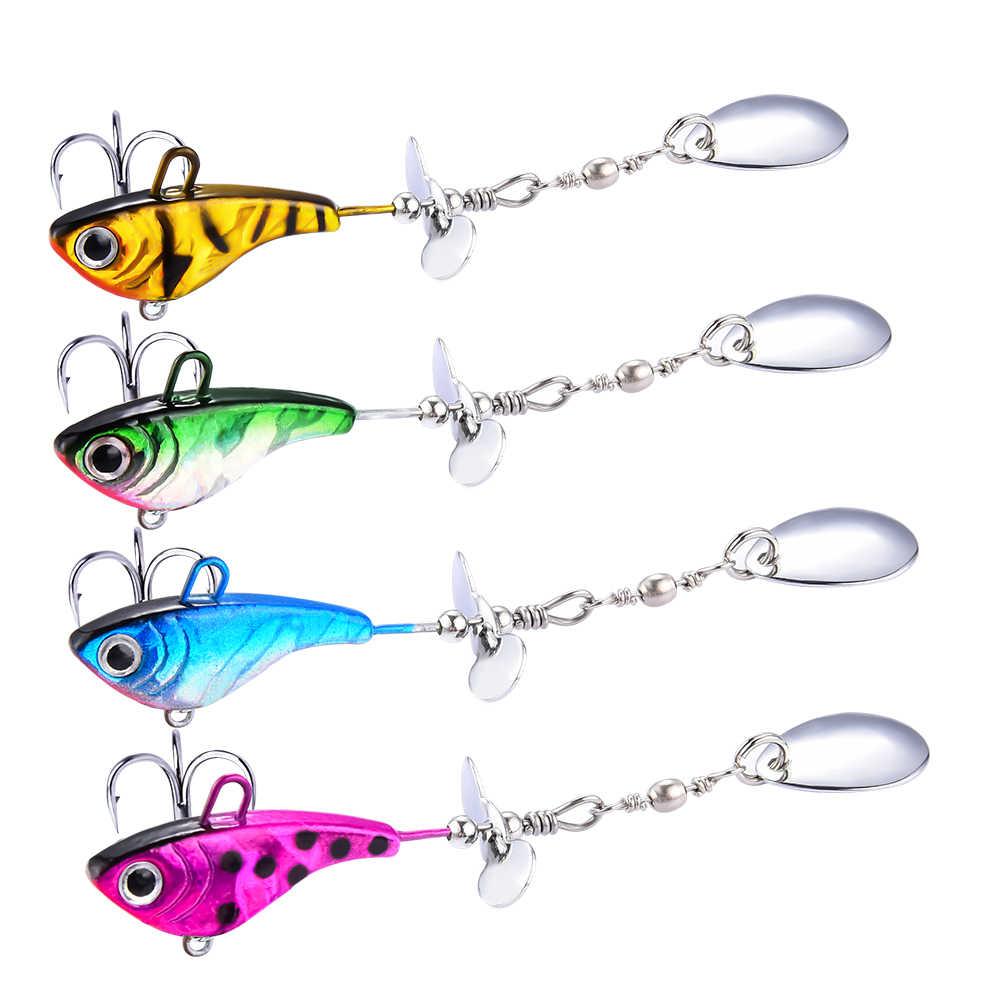 Fulljion VIB SPINNER เหยื่อตกปลา Wobblers ปลาเทราท์ช้อน Crankbaits ประดิษฐ์ Isca เหยื่อตกปลาทะเลบิน Pesca Hard เหยื่อ