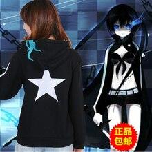 Nuevo Envío Libre Vocaloid Hatsune Miku Traje de Cosplay Con Capucha Sudadera Con Capucha Escudo Casual Animación Caliente Negro Con Cremallera Con Capucha