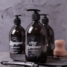500 мл коричневая бутылка шампуня для ванны шикарная бутылка лосьона для мытья тела скандинавский Кондиционер для волос Жидкая пластиковая бутылка для хранения