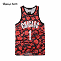Floral Full Printed Number 1 Hip Hop Men's Tank Top  2017 Summer Casual Mens Tank Top Man Clothes