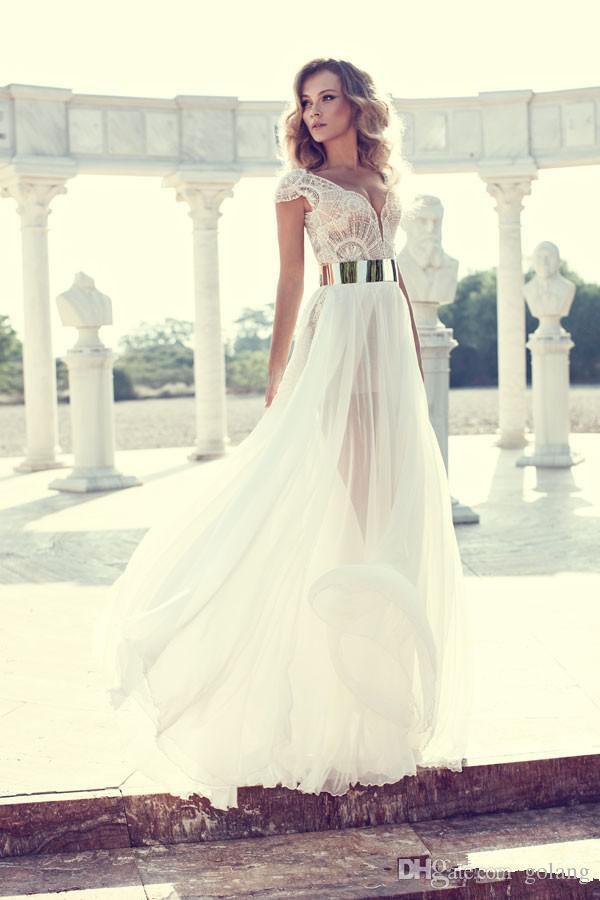 Белое длинное коктейльное платье