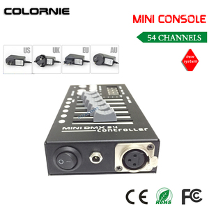 Image 4 - מיני 54CH DMX בקר קונסולת LED שלב תאורת DJ בקר DMX Controladora DJ עבור לומייר הזזת ראש אור