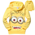Wholesale 5 Sets/Lot Boys Hoodies Despicable Me Minions Cartoon Terry Long Sleeve Sweatshirts Children Kids Girls Nova t-shirts