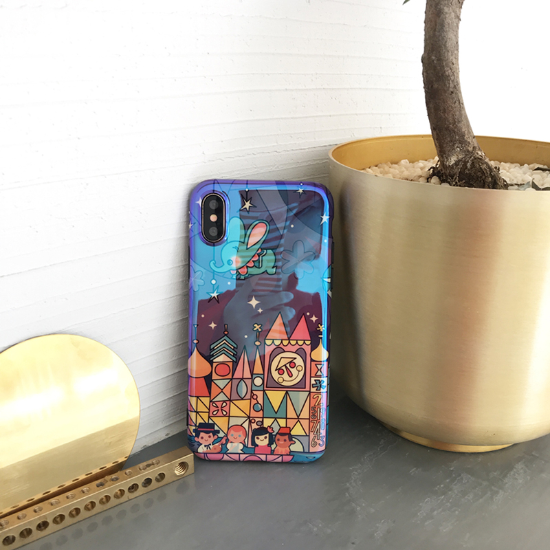 Fairy Tale Castle Phone Iphone X Case Lovely Cartoon Fireworks Cover Blu-Ray Cases For Iphone 7 6 6S 8 Plus Capa