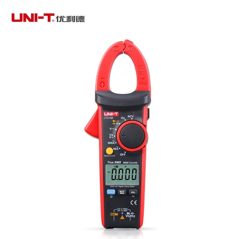 UNI-T UT216B UT216A AC Ammeter True RMS Digital Clamp Meter Multimeters Overload Protection Non-contact Voltage Detection ut216a 216b 216c 216d true rms digital clamp meter youlide uni t