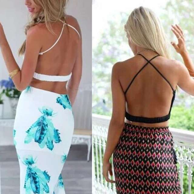 97f1cae218763 Online Shop Women Crochet Lace Boho Beach Bikini Cami Tank Crop Top Halter  Bralette Knit Bra Tops