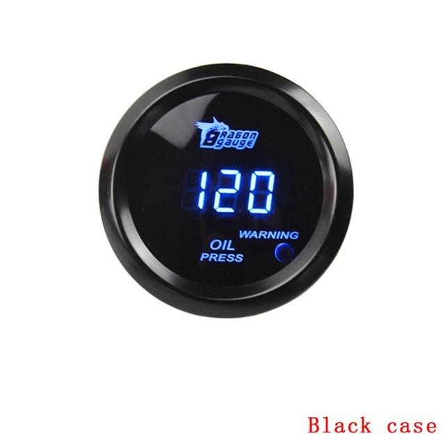 "free shipping!! Oil press gauge 2"" /52mm Digital Wideband Oil pressure gauge/tachometer/auto gauge/car meter/parts(black)"