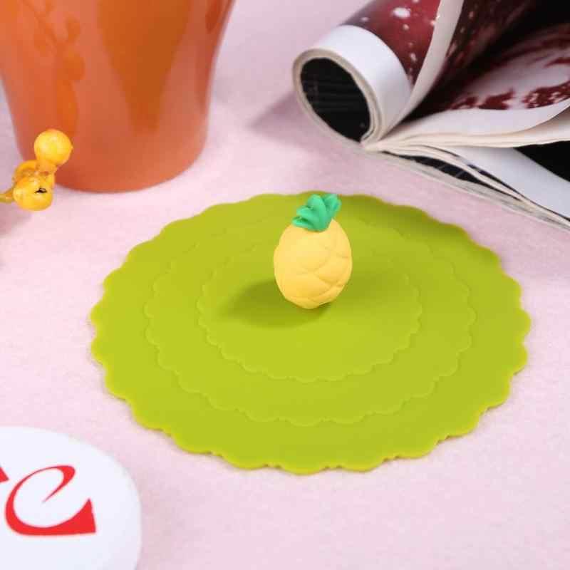 3D Kat Ananas Lekvrij Thee Cup Cover Silicone Anti-stof Cup Deksels Hittebestendige Verzegelde Herbruikbare Drinkware Cover Accessoires