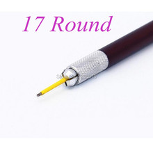 50pcs Round 17 Microblading Needles For Permanent Make Up Fog Eyebrow Manual Pen
