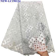 Последняя африканская французская Тюлевая кружевная ткань высокого качества африканская Тюлевая кружевная ткань с блестками для вечернего платья HA-005