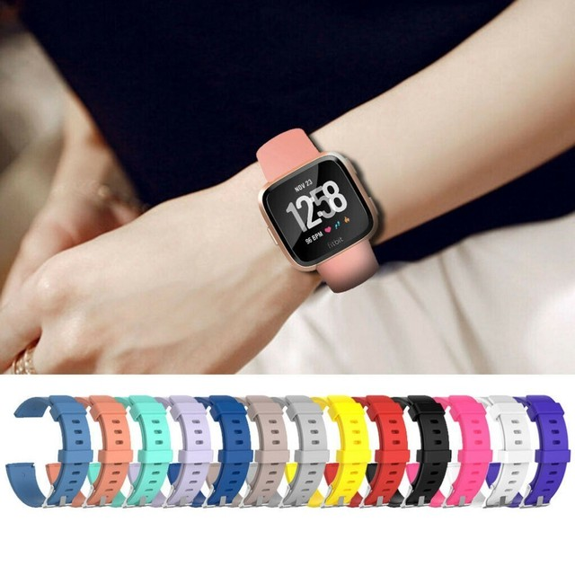 Coolaxy Strap For Fitbit Versa Lite Band Smart Watch Wrist Bracelet Band For Fitbit Versa Strap Silicone Replacement For Fit Bit