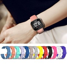 Fitbit versa lite 밴드 용 coolaxy 스트랩 fitbit versa 스트랩 용 스마트 시계 손목 팔찌 밴드 fit bit 용 실리콘 교체