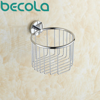 Free shipping BECOLA Bathroom accessories brass roll holder basket Bathroom Toilet Paper Holder B 6727
