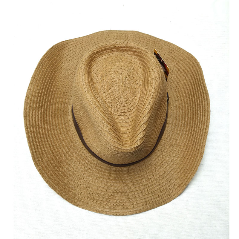 68643dbdf US $7.6 5% OFF|Fibonacci Fashion Summer Sun Hat Cowboy Panama folding Straw  Beach Wide Brim Cap for Men Women Hats-in Sun Hats from Apparel ...