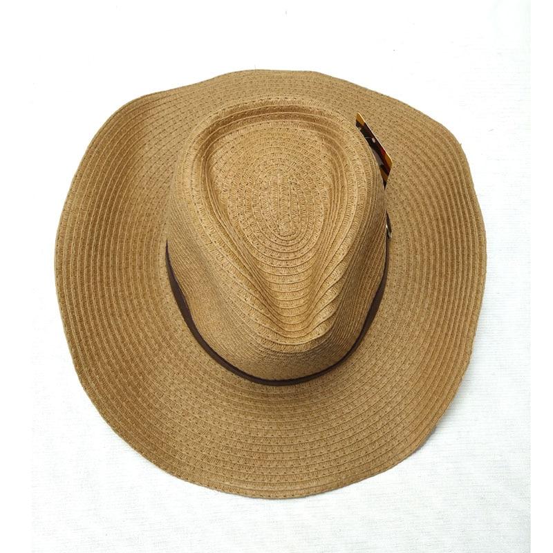 Fibonacci moda verano sombrero de sol vaquero Panamá paja plegable playa de ala  ancha gorra para hombres mujeres sombreros en Sombreros de sol de  Accesorios ... 9cb47922fd3