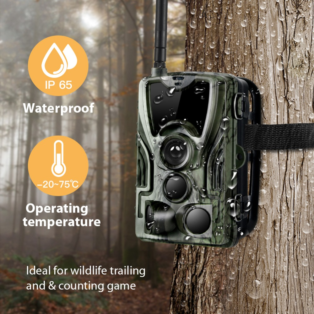 Image 2 - HC 801LTE 4G Hunting Camera 16MP 64GB Trail Camera IP65 Photo Traps 0.3s Wild Camera With A 5000Mah Lithium Battery for a gift-in Hunting Cameras from Sports & Entertainment