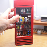 G05 X4608 children baby gift Toy 1:12 Dollhouse mini Furniture Miniature rement alloy bar refrigerator without food 1pcs