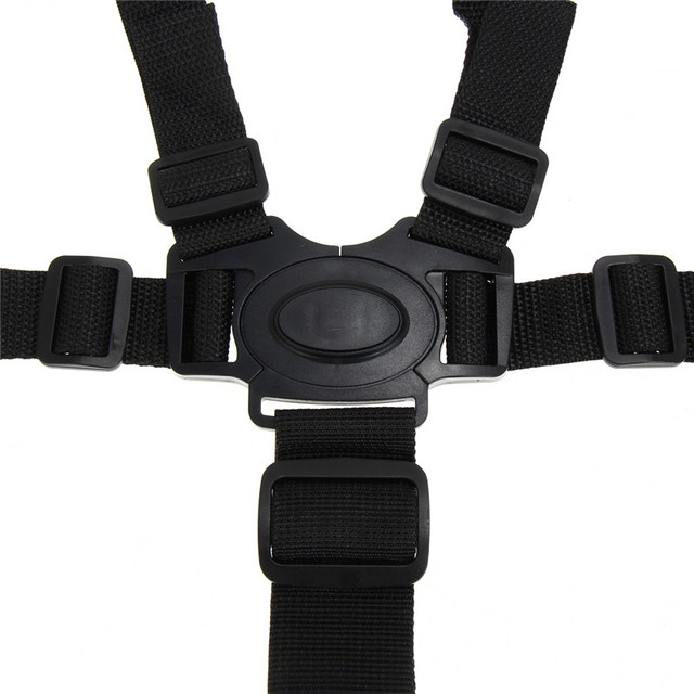 Baby Chair Stroller Pram Buggy Safe Belt Convenient 5-Point Black Harness Strap Children Security Baby Safety Chair Belt