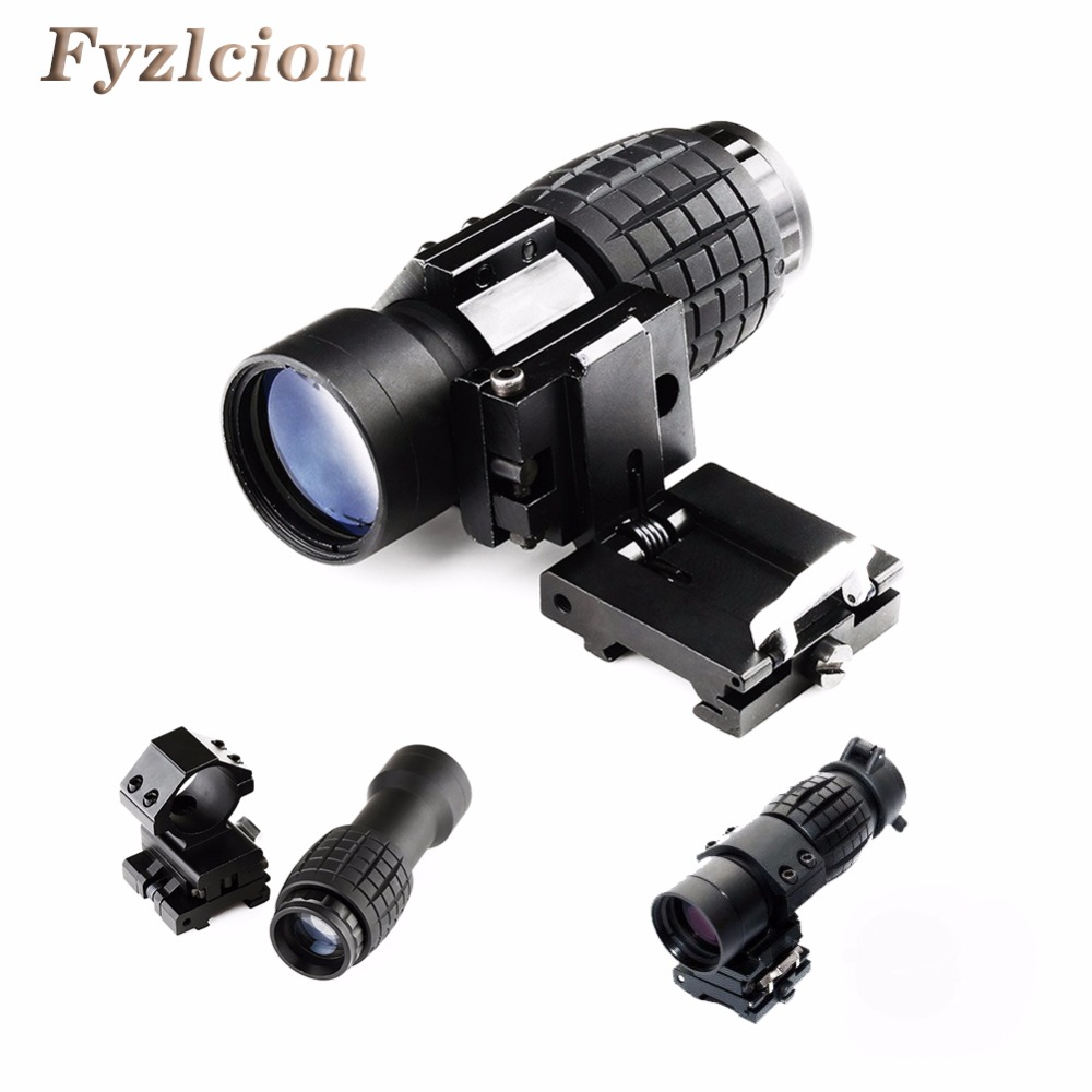 Hunting Airsoft Rifle Accessories Tactical 3X Magnifier Scope Sight with Flip To Side 20mm Rail Mount Scopes For Picatinny Rail free shipping 20mm rail tactical 4x magnifier quick flip scope w flip to side mount fit for holographic sight