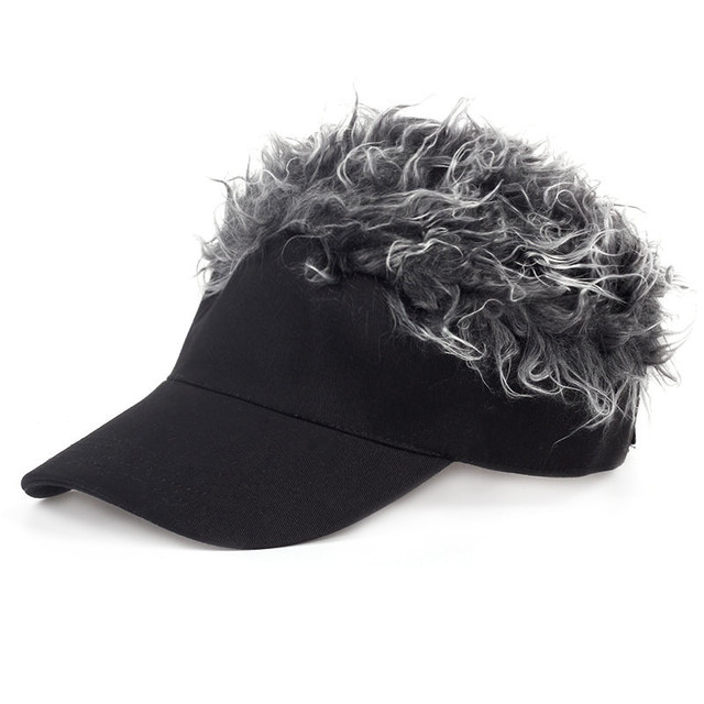 7bdc4de540cca6 Golf cap Baseball Cap Outdoor Sports Fake Hair men Fake Flair Hair Sun  Visor cap Hat
