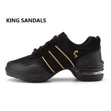 2018 новые дышащие Танцевальные Кроссовки для женщин современные практические занятия танцами обувь для девочек гибкий Джаз Хип-хоп обувь Фитнес-человек размер 34-42
