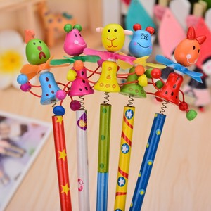 Image 5 - 48pcs/lot School Students Prize Children Cartoon Animal HB Wooden Pencil Christmas Birthday Promotion Gift