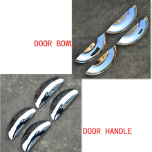 цена на Car-styling ABS chrome door handle / door bowl trim for peugeot 206 207,Free shipping plastic plating decorat car cover sticks