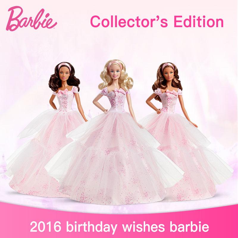 Genuine Barbie 2016 Birthday Wishes Princess Girls Toys Christmas Birthday Gifts Original Barbie Doll Toys for ChildrenGenuine Barbie 2016 Birthday Wishes Princess Girls Toys Christmas Birthday Gifts Original Barbie Doll Toys for Children